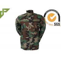 Buy cheap Multi Camo Woodland Military Combat Uniform With Reinforced Internal Knee Pockets product