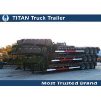Buy cheap Hauler Truck Low Bed Trailer 3 Axle 80 Ton for road transportation , container trailer product