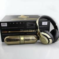 China BEATS BY DR DRE GOLD STUDIO WIRELESS HEADPHONES & PILL 2.0 LIMITED EDITION NEW on sale