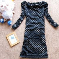 Buy cheap Polka Dots Long Sleeve Sweatshirts , Womens Hooded Sweatshirts Above The Knees product