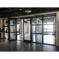 Buy cheap Customized Soundproof Aluminum Glass Swing Door Clear Tempered Glazed product