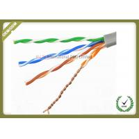 Buy cheap Solid Bare Copper Conductor Network Fiber Cable Cat5e U/UTP 4x2x0.5 Solid Cuprum product