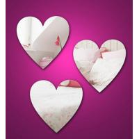 Buy cheap Heart Shape Cosmetic Acrylic Mirror Sheets With High Quality product