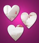 Buy cheap Feuilles acryliques cosmétiques de miroir de forme de coeur avec de haute qualité product