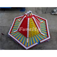 China 15mL*15mW*8mH PVC Tarpaulin Giant Inflatable Volcano Rock Climbing Wall With Slide For Children on sale