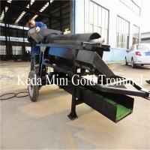 Buy cheap Diesel Engine 32m/Min Gold Mining Machine Portable Gold Trommel Wash Plant product
