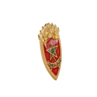 Buy cheap Die Cast Copper Brass Plated Police Metal Badge Five Pointed Star Shape product