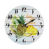 Buy cheap Brief Style Wholesale Decorative Quartz Round Face Wall Clocks Custom printed glass wall clock for home decoration product
