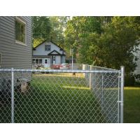 China Flat Surface Galvanized Steel Chain Link Fence , Outdoor White PVC Coated Wire Mesh on sale