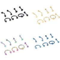 Buy cheap 16G Titanium Anodized Stainless Steel Body Jewelry Helix Piercing Ear Eyebrow Nose Lip Captive Rings Freeshipping product