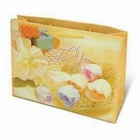 Buy cheap Plastic Gift Bag with Hot Transfer Printing and Glossy/Matte Lamination product