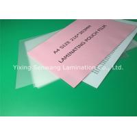 China A4 Size Thermal Lamination Film 216 x 303 mm Photo Laminating Pouches wholesale