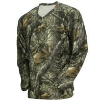 Buy cheap Wicking Long Sleeve Camouflage Hunting Suit Camo Fishing T Shirt 100% Poly Knit Grid product