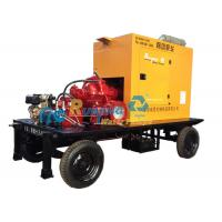 China  Portable Diesel Engine Water Pump with trailer , diesel powered water pump  for sale
