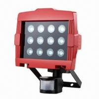 Buy cheap 12pcs LED Floodlight with Sensor Switch, High Lumen Output and IP44 Protection Degree product