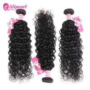 8A Quality Virgin Brazilian Human Hair Bundles Water Wave No Oiled Gloosy