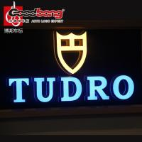 Buy cheap light box sign letters decorative crystal letters embossing acrylic letter sign product
