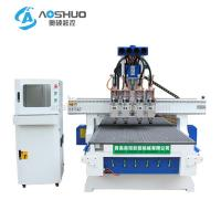 Buy cheap 4 Head 4 Axis Cnc Wood Carving Machine 9kw For Cabinet And Door Engraving product