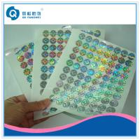 Buy cheap Custom Made Void Laser Printing Labels On Sheets , Company Logo Stickers product
