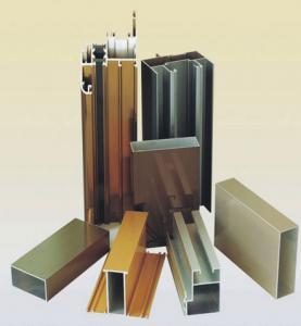 Buy cheap Powder Coating Aluminium Door Profiles , Deep - Processing Aluminum Door Extrusions product