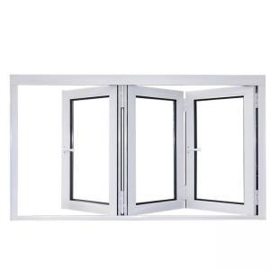 Buy cheap Four Sashs Aluminum Folding Windows Vertical Reflective Glazed Anodizing product