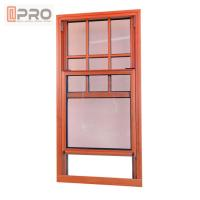 Buy cheap Custom Lift Up Hurricane Impact French Windows / Small Size Top Hung Up Down Sliding Window product