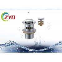 Buy cheap Chrome Plated Panel Pop Up Drain With OverflowWater Overflow Resistance product