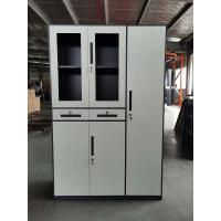 Buy cheap storage file cabinet and steel locker combination group structure dark gray and white color product
