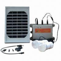 China Portable Solar Panel Kit with LED Bulb and Cell Phone Charger, Ideal for Remote Area on sale