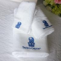 Buy cheap 100% cotton custom embroidered logo white terry hotel bath towel set product