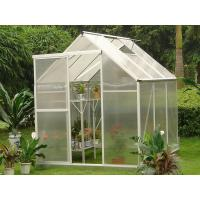Buy cheap Aluminum Framing 4mm Twin-wall Small Portable Garden Polycarbonate Greenhouses 6' X 8' product
