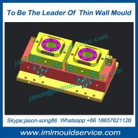 The highest quality thin wall plastic cup injection mould, IML thin wall