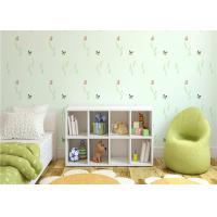 Buy cheap Non Woven Eco Friendly Kids Bedroom Wallpaper Butterfly and Green Plants Pattern product