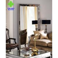 Buy cheap Modern Large Frameless Mirror , Silver Full Length Mirror With Clear Surface product
