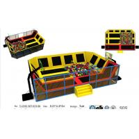 China 97M2 Indoor Kids& Adults Trampoline with Foam Pit and Basketball Game Funny Park wholesale