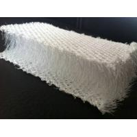Buy cheap Breathable White Plastic 3D Mesh Fabric , Polyester Mesh Fabric For Pillow / Sofa product