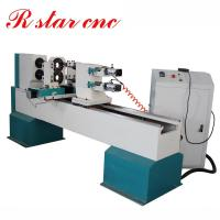 Buy cheap Double axis CNC Wood turning lathe machine for baseball bat price product
