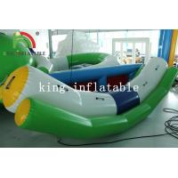 Buy cheap Outdoor Summer Water Games White / Green Blow Water Seesaw PVC Toy For Kids And Adults product