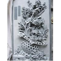 Buy cheap Granite Marble Wall Relief Carving Flower product