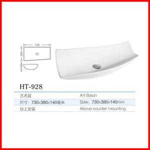 China chaozhou cheap ceramic countertopsflat hair hand wash basin sink on sale