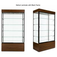 China Multi Colored Frame Wood And Glass Display Case , Lockable Glass Showcase Cabinet on sale