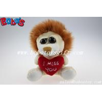 Buy cheap Small Size Stuffed Lion Animal With Big Eyes And Heart Pillow product