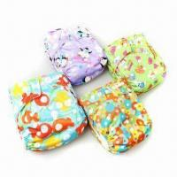 China Eco-friendly Baby Diapers, Available in Various Colors, Made of Polyester and Micro Polar Fleece on sale