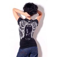 Buy cheap Womens bling bling tshirt angels wings printing and stones for summer product