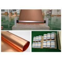 Buy cheap Refined Ultra Thin Copper Sheet, Max 620mm Width BatteryCopper Sheet Roll product