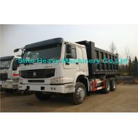 Buy cheap White Sinotruk 8 Ton HOWO Heavy Duty Dump Truck , 6x4 Diesel Dump Truck product