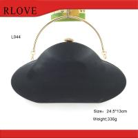 Buy cheap Clutch bag hardware accessories gold metal frame with plastic box from wholesalers