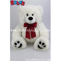 Buy cheap White Stuffed Bear Animal Plush Teddy Bear Toy With Wine Red Ribbon As Nice Gift product