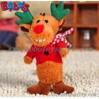 Buy cheap Soft Plush Christmas Deer Animal Pet Toy For dog and Cat product