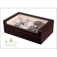 Buy cheap 10 Slot Wood And Glass Display Case , Wooden Watch Box With Glass Top product